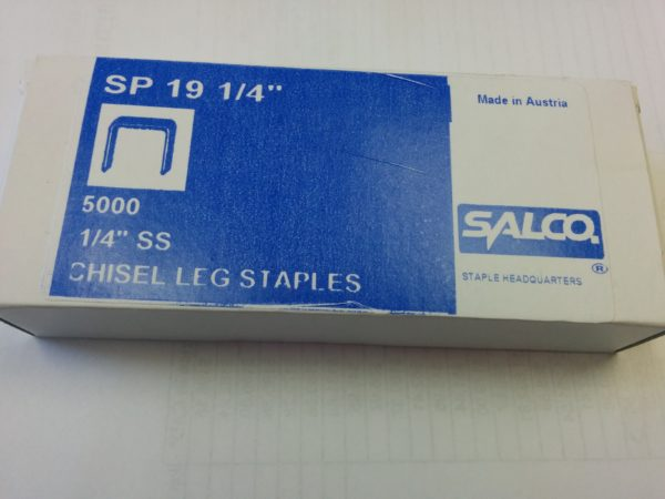 SP19 1/4 Stainless Steel Staples