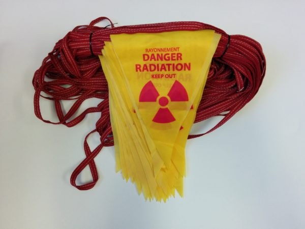 Radiation Triangle Barrier Flagging