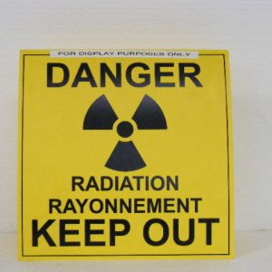 Yellow Folding Radiation Sign